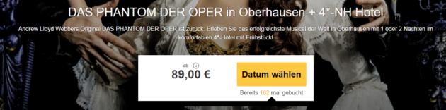 Phantom der Oper Musical mit Hotel