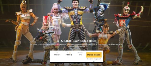 musical starlight express inkl hotel fr hst ck ab 89. Black Bedroom Furniture Sets. Home Design Ideas