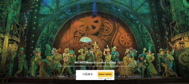 London Musical Wicked Hotel