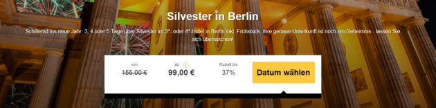 Silvester in Berlin mit Blind Booking Hotel