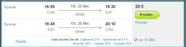 Berlin Flug Schnäppchen