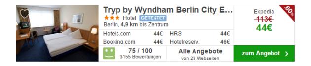 Berlin Hotel TRYP Schnäppchen