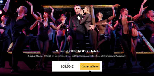 3 Tage Berlin Musical Chicago