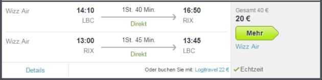 Flüge ins Baltikum Angebote