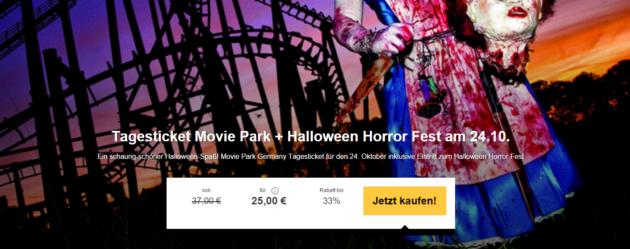 halloween im movie park mit eintritt party nur 25. Black Bedroom Furniture Sets. Home Design Ideas