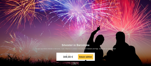 Silvester Schnäppchen Barcelona