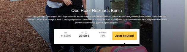 3 Tage Berlin Qbe Hotel