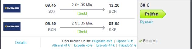Flüge nach Barcelona ab Berlin
