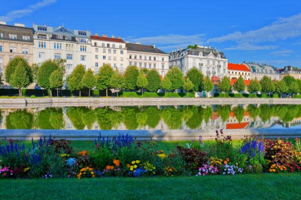 Belvedere Garten in Wien