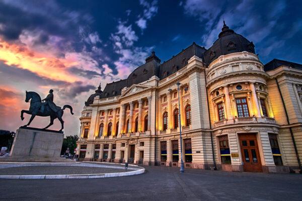 Bukarest Kurztrip Sonnenuntergang