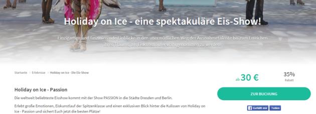 Gutschein Holiday on Ice