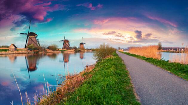 Holland Windmühlen in Canak bei Kinderdijk