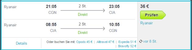 Rom Flug Angebote ab Köln