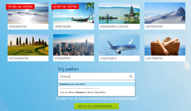 Reise buchen auf TUi.nl
