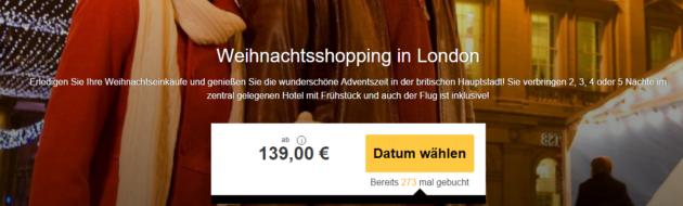 3-4 Tage Städtereise London Schnäppchen mit Hotel