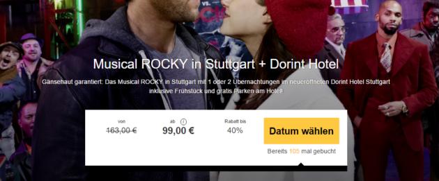 Stuttgart Musical ROCKY mit Hotel