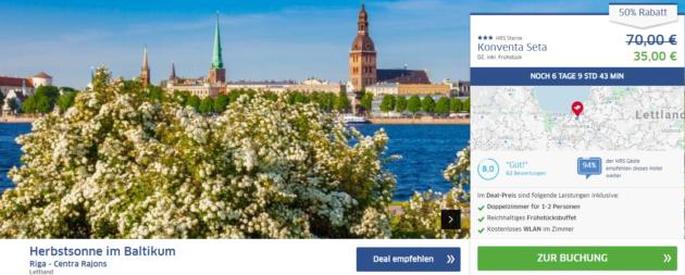 3 Tage Riga Schnäppchen