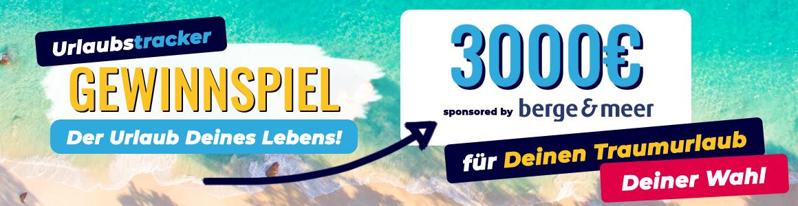 Gewinnspiel App 3000e Landingpage-Banner