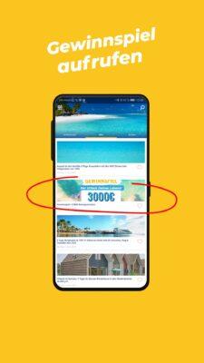 Gewinnspiel App 5000€ - Schritt 3