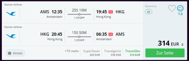 Flüge nach Hong Kong Schnäppchen