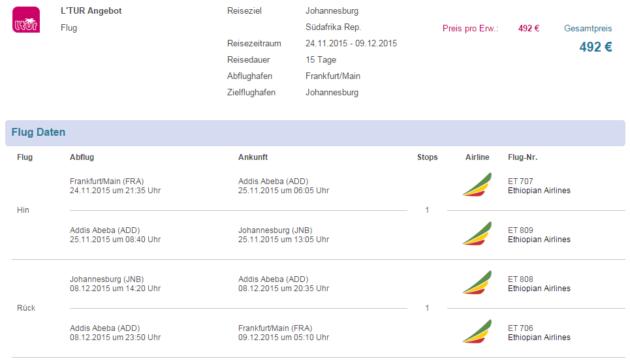 Flüge Johannesburg Lastminute