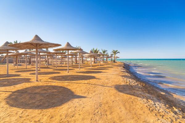 Hurghada Ägypten Sandstrand