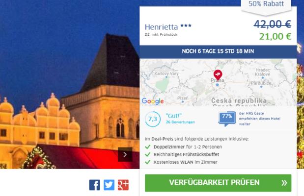 Prag Hotel Deal Henrietta