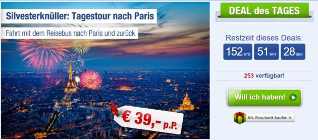 Silvester Busreise Paris