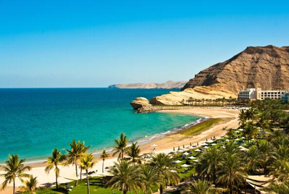 Oase mit Strand im Oman