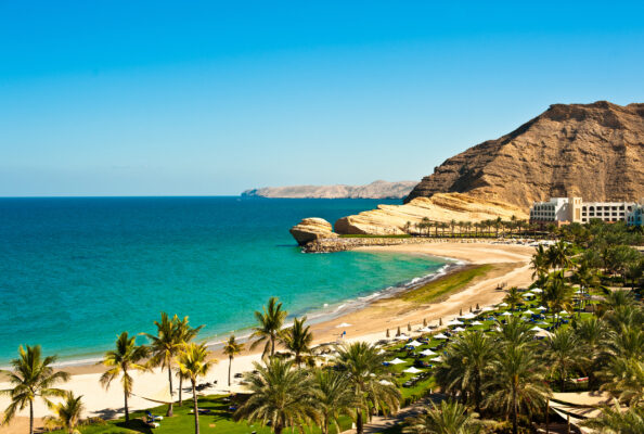 Oasa mit Strand im Oman