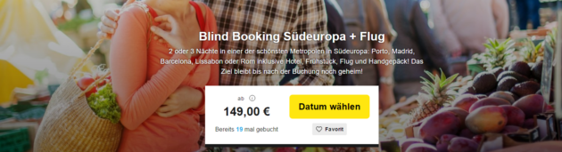 3 Tage Blind Booking Metropole