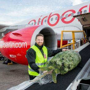 Kostenlos den Weihnachtsbaum mit in den Flieger - airberlin macht's möglich