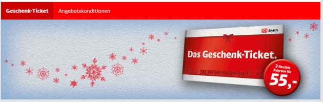 Bahn Geschenk Tickets Gutschein
