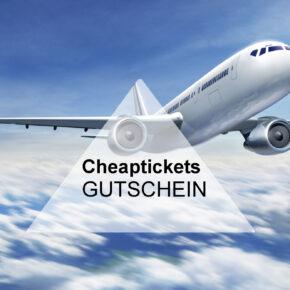 Cheaptickets 10 € Gutschein auf alle Flüge