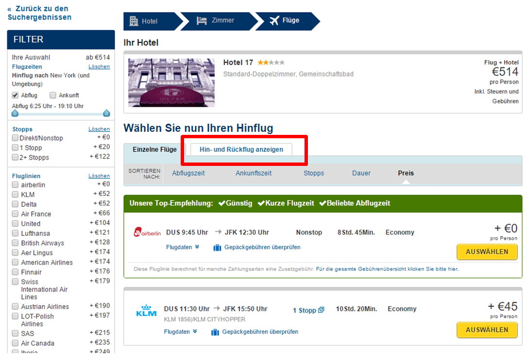 Flug Auf Rechnung Buchen : expedia click mix sparen mit anleitung zur buchung ~ Themetempest.com Abrechnung