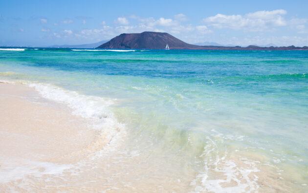 Corralejo Strand mit Insel Ilsa de Lobos