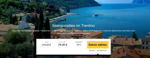 Trentino in Italien für 3 Tage Wellness