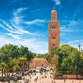 Kurzurlaub am Wochenende: 5 Tage Marrakesch in TOP Unterkunft inkl. Frühstück & Flug nur 80€