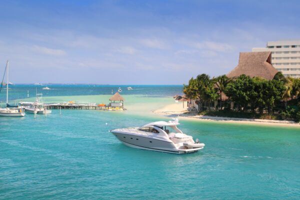 Cancun Mexico Strand und Lagune