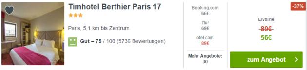 Paris Kurztrip Angebot