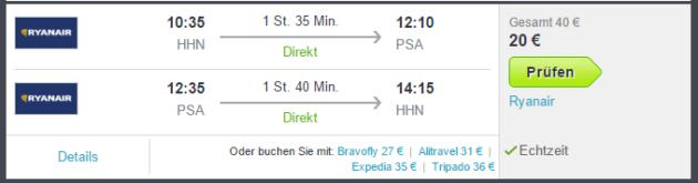 Pisa Flug Angebote ab Frankfurt-Hahn