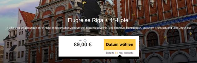 3 Tage Riga mit Hotel & Flug