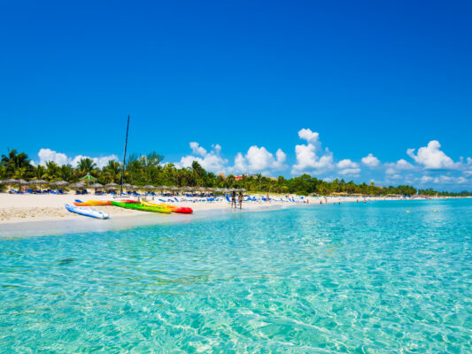 Varadero Strand Kuba vom Wasser aus