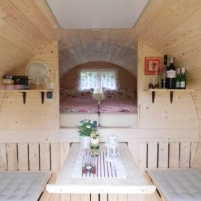 1 romantische Übernachtung im Holzfass in Bleckede inkl. Frühstück für 39€