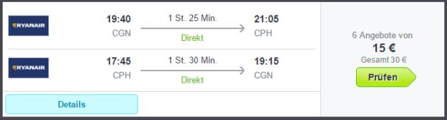 Flüge nach Kopenhagen