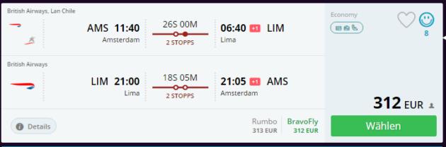 Flug Peru Lima Deal