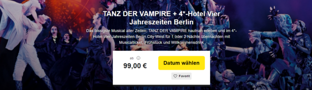 Tanz der Vampire Musical Tickets Hotel Berlin
