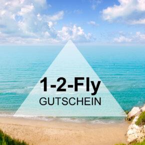 Gutschein 1-2-FLY: 50€ Rabatt pro Person auf Deine Reise sichern