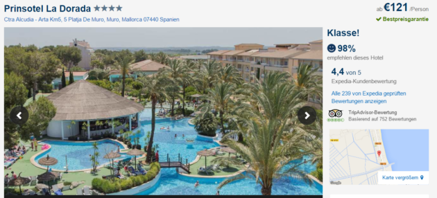 4 Tage Mallorca Prinsotel La Dorada