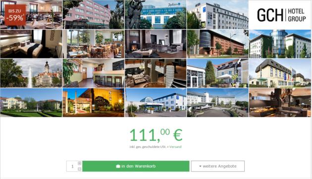 Gutschein GCH Hotel Angebot